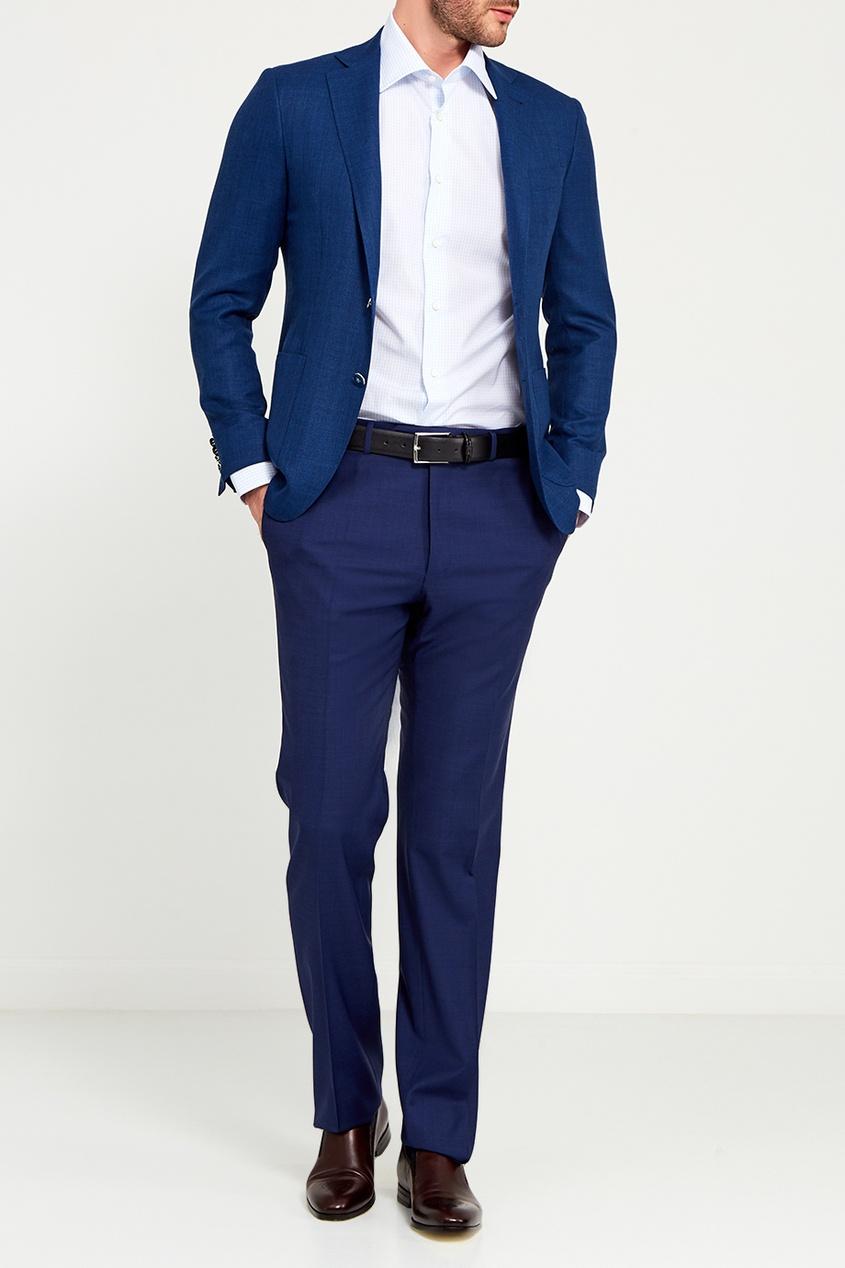 Canali Синий шерстяной пиджак canali шелковый кушак для смокинга