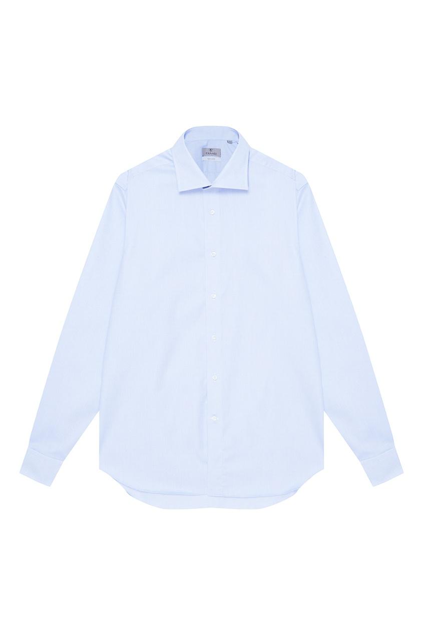 Canali Классическая сорочка голубого цвета толстовка нежно голубого цвета brums ут 00008785