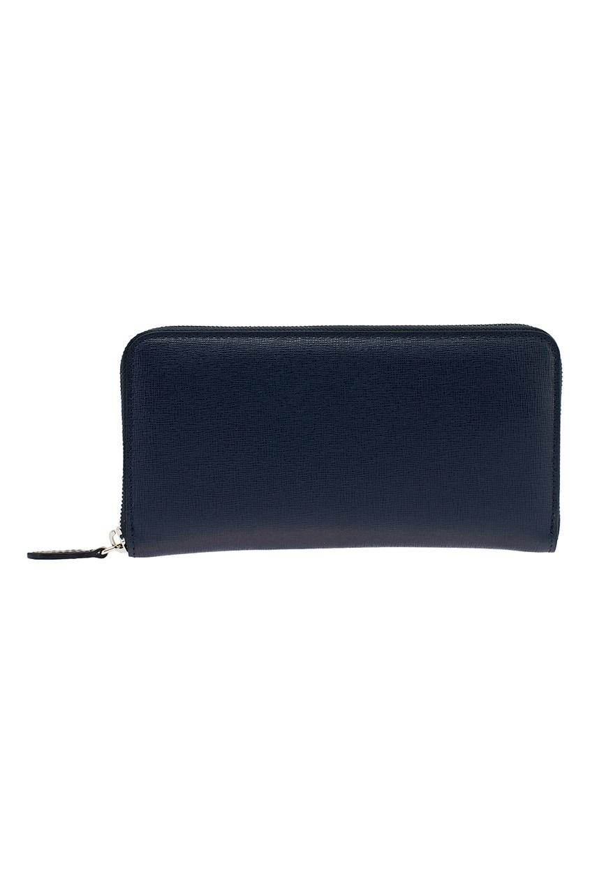 Купить со скидкой Синий кожаный кошелек