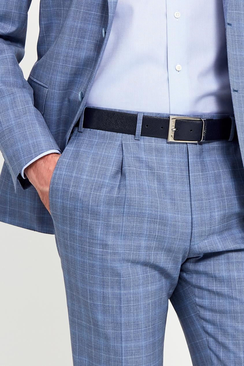 Canali Синий текстурированный ремень ремни admiral ремень мужской ширина 4 см винт пряжка хомут цвет синий