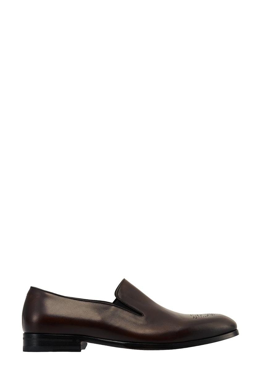 Canali Коричневые туфли с перфорацией canali лакированные туфли