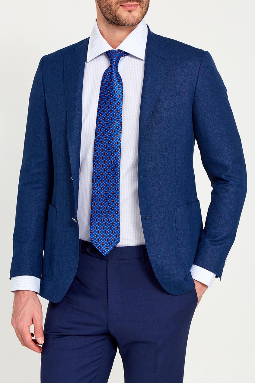 Canali Шелковый галстук с точками pollini галстук pollini