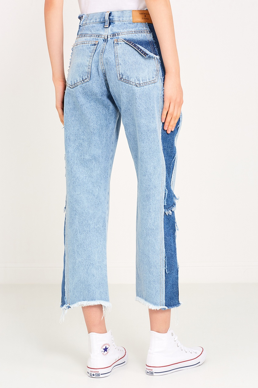 Natasha Zinko Голубые джинсы с обрезанными краями kitchenaid чайник наплитный 1 89 л со свистком стальной ktst20sbst kitchenaid