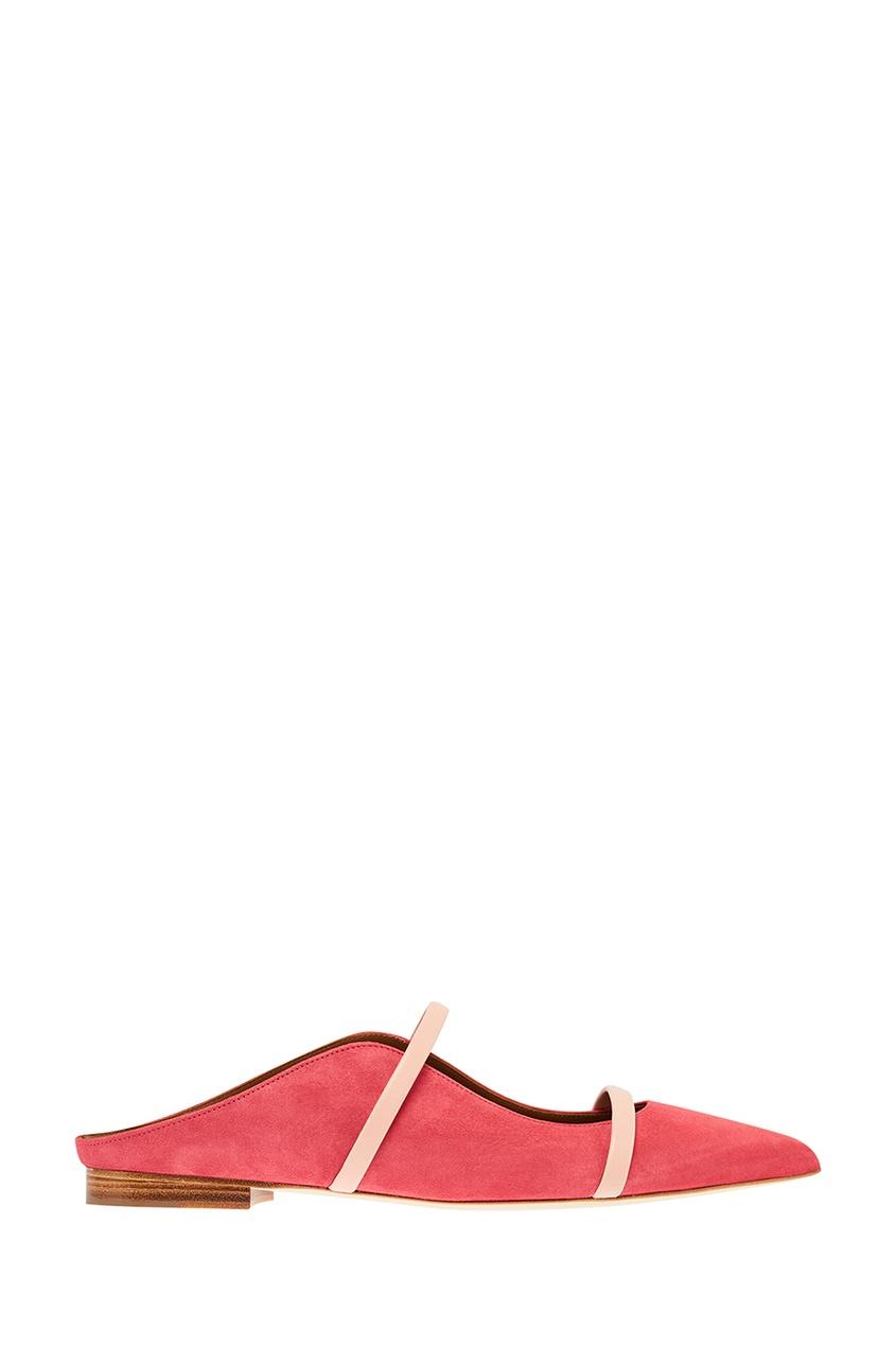 Розовые туфли Maureen Flat на плоской подошве Malone Souliers