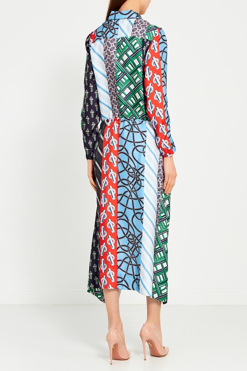Carven Шелковое платье со смешанными принтами erickson beamon шелковое платье