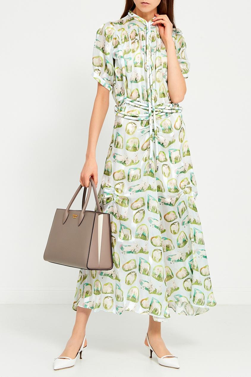 женское платье carven, зеленое