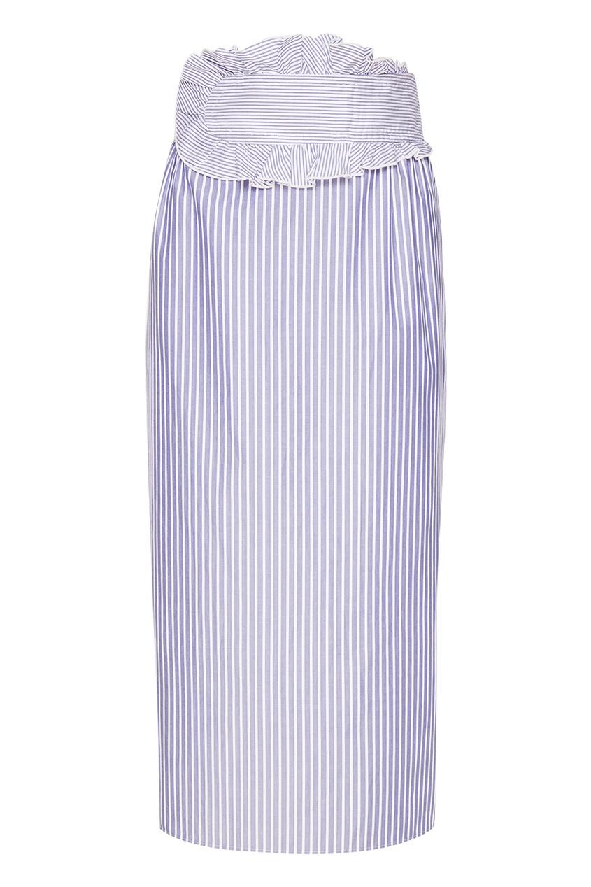 Carven Юбка-миди в полоску юбка миди в полоску розового цвета