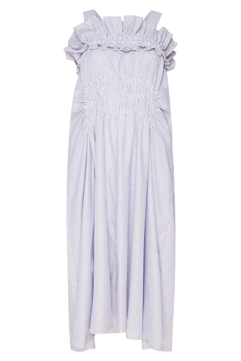 Carven Хлопковое платье в полоску