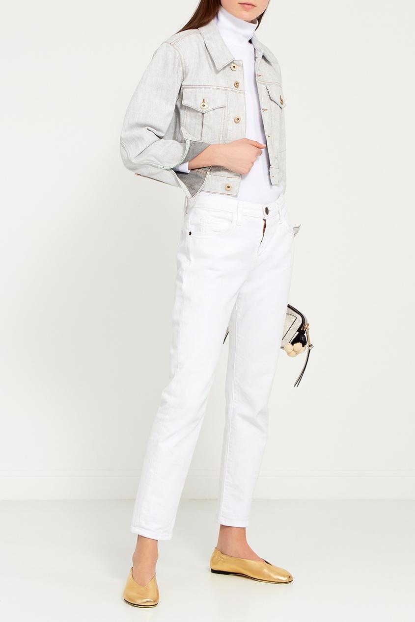 женская куртка carven, белая