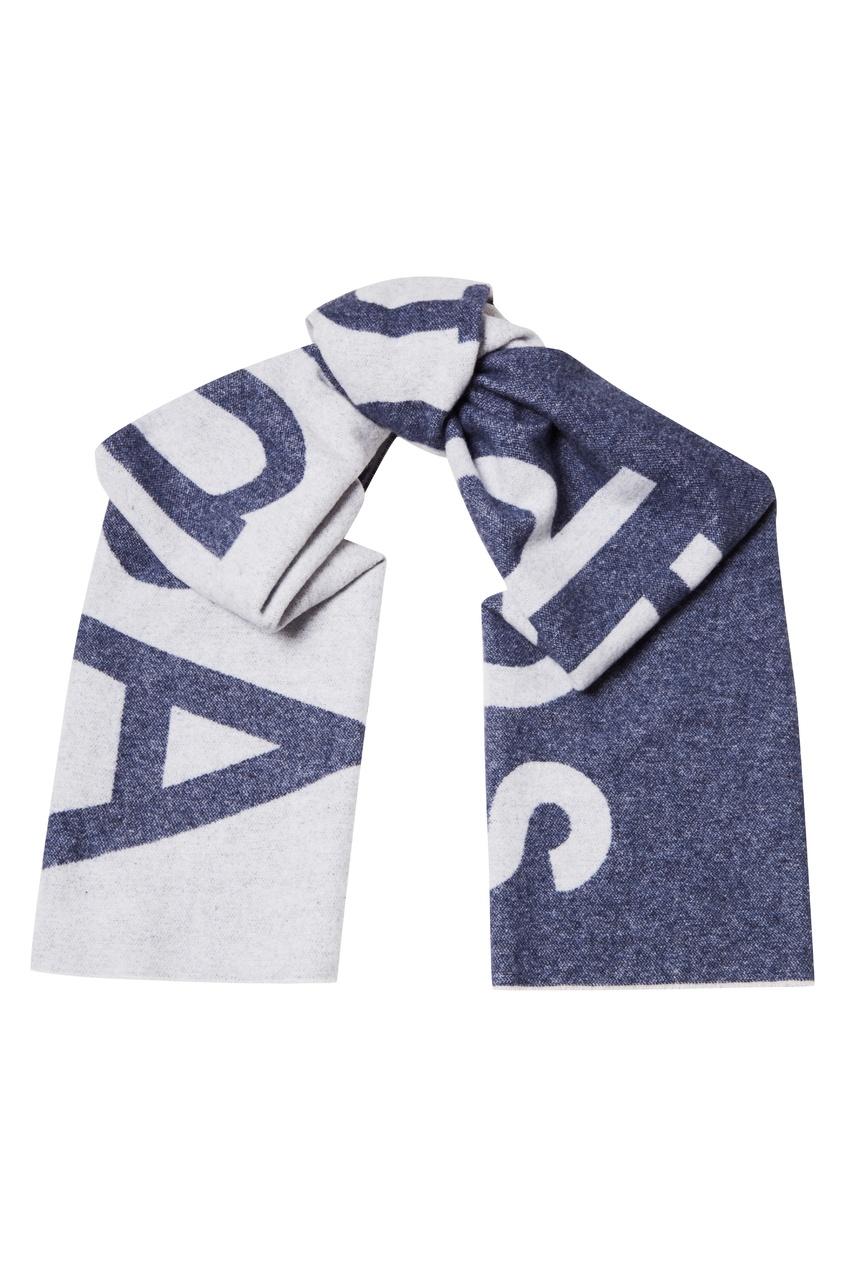 Синий шарф с логотипом Toronty Logo
