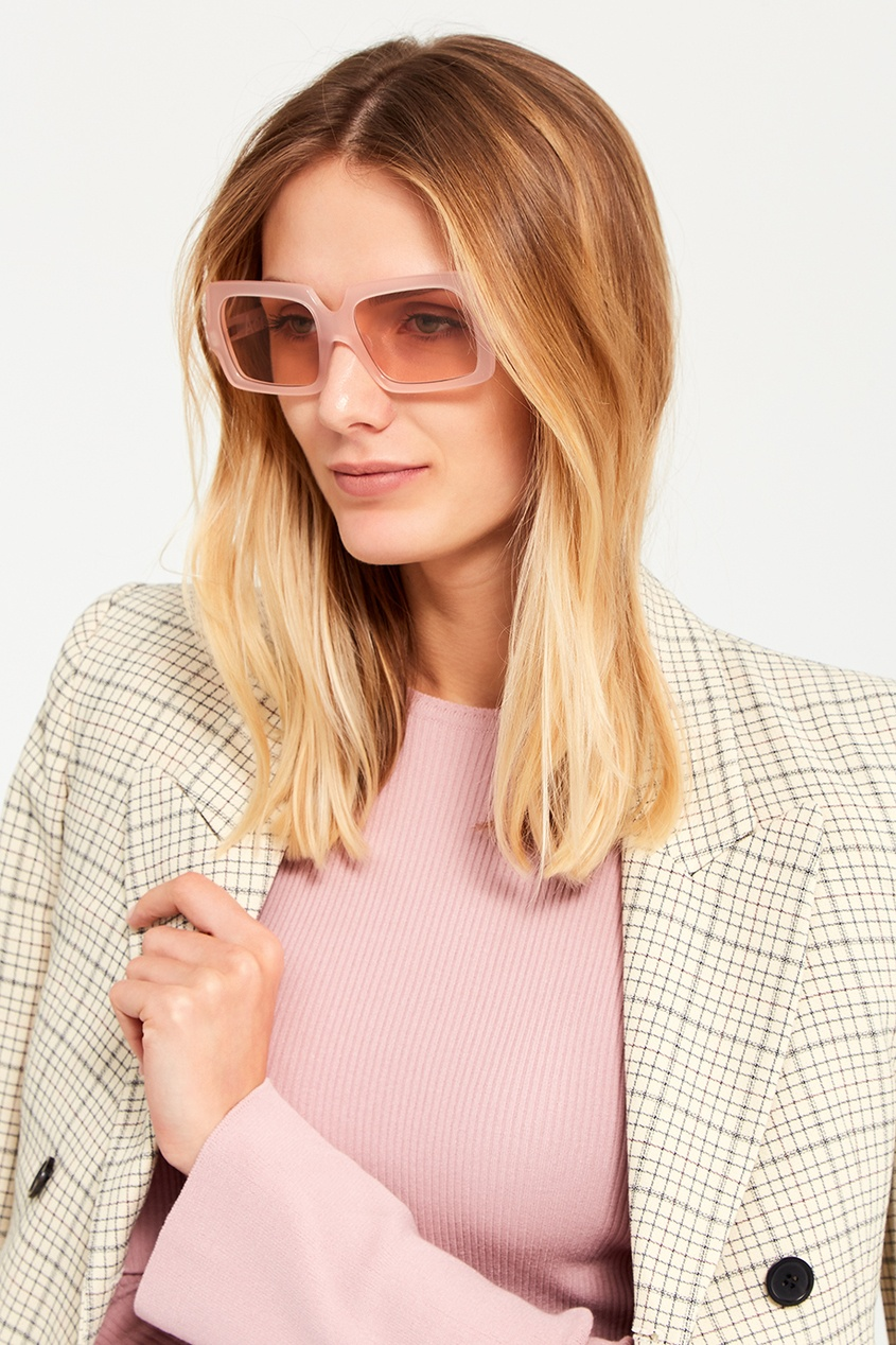 Acne Studios Полупрозрачные розовые очки George Large очки с деревянной оправой киев