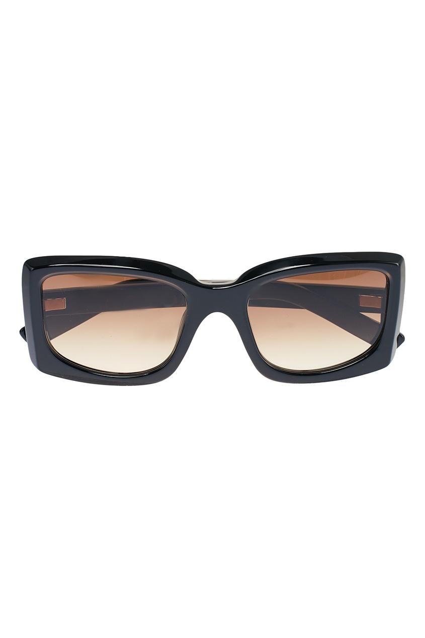 Acne Studios Прямоугольные черные очки Anitha vogue vogel очки черного кадра серебряного покрытия линза мода полной оправе очки vo5067sd w44s6g 56мм