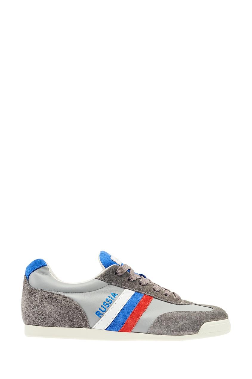 ZASPORT Кроссовки с цветной полоской billionaire серые кроссовки с бархатными вставками