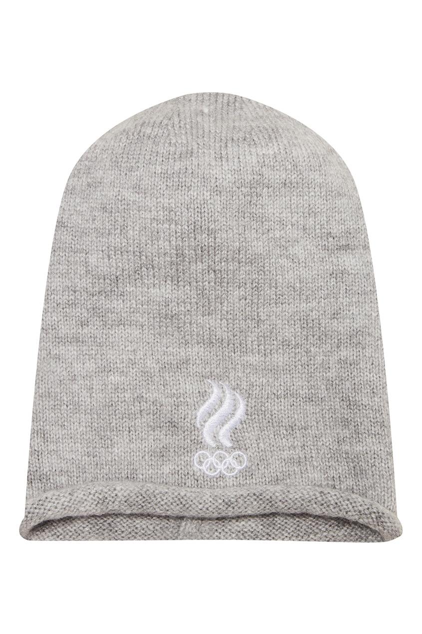 ZASPORT Вязаная шапка с вышивкой шапка вязаная button blue шапка вязаная
