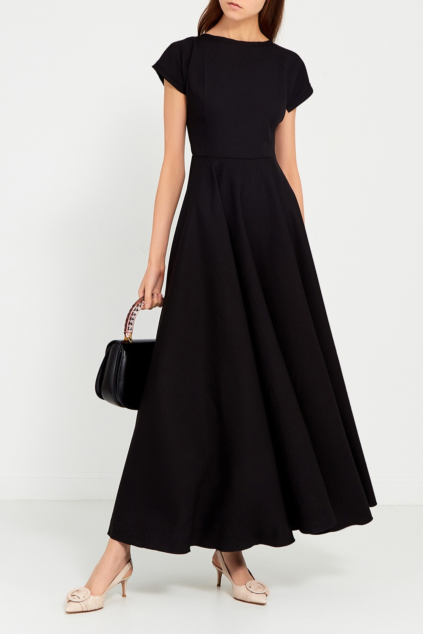 Cyrille Gassiline BASE Черное платье-макси laroom черное платье макси