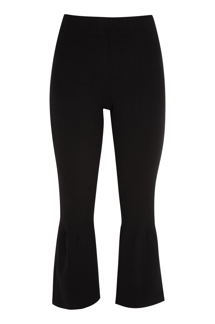 Черные брюки-клеш Knittedkiss