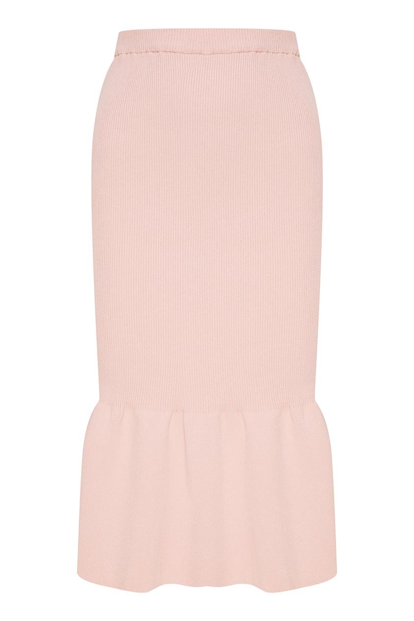 Сиреневая юбка-миди