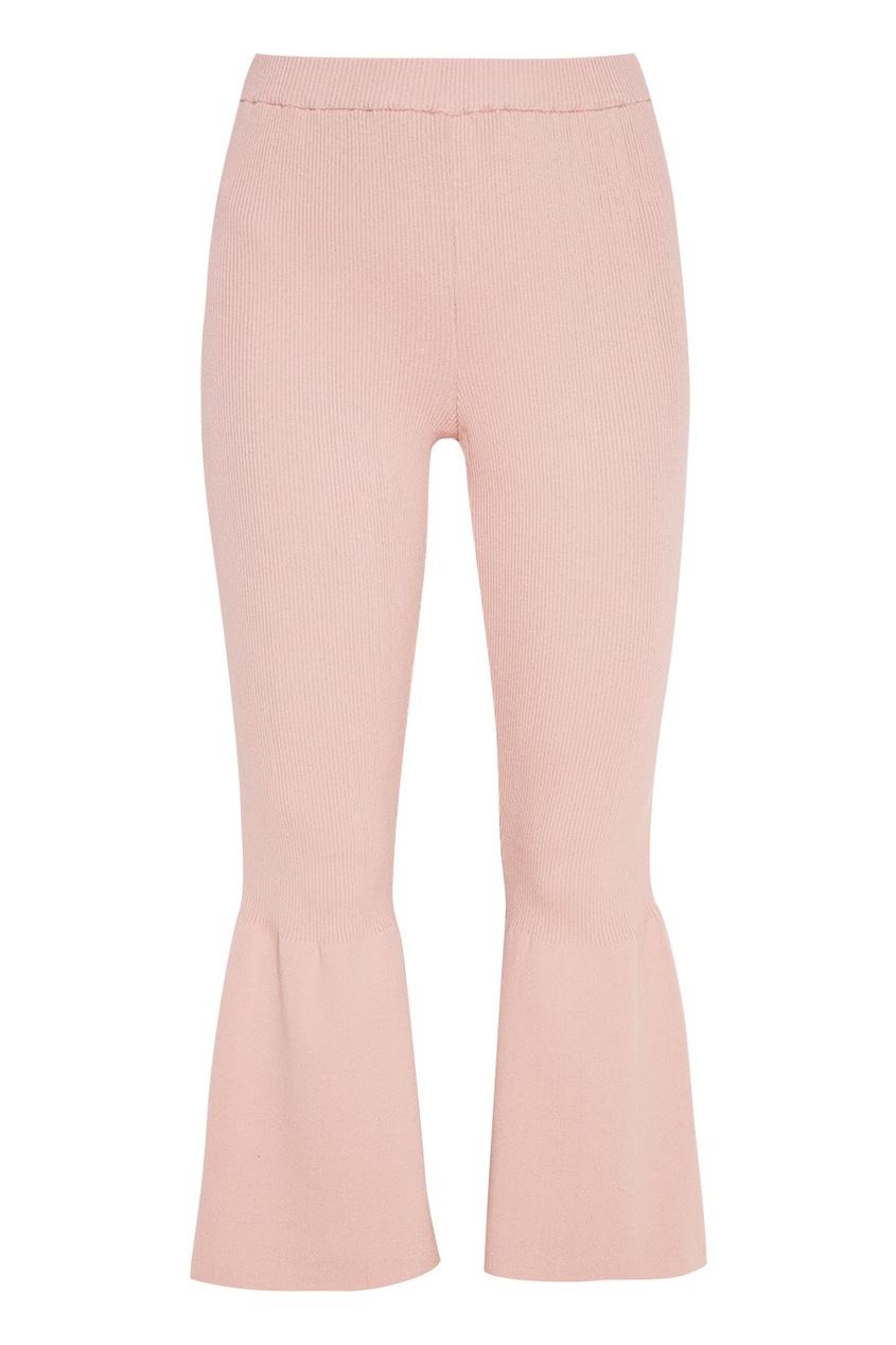 Knittedkiss Трикотажные брюки-клеш брюки divim брюки клеш с завышенной талией молния сзади