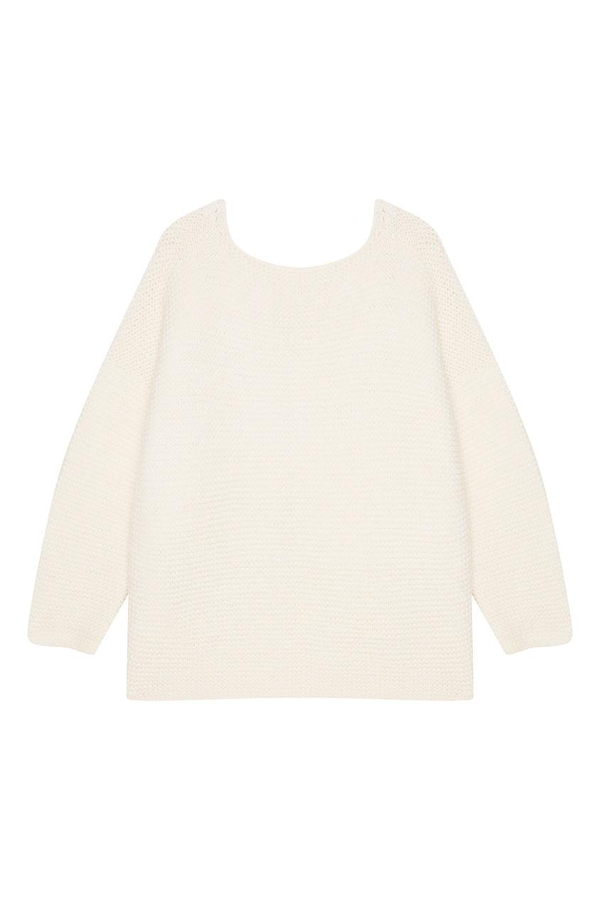 Knittedkiss Белый oversize пуловер пуловер