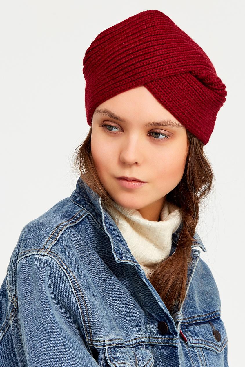Knittedkiss Бордовая повязка на голову многофункциональная повязка на голову