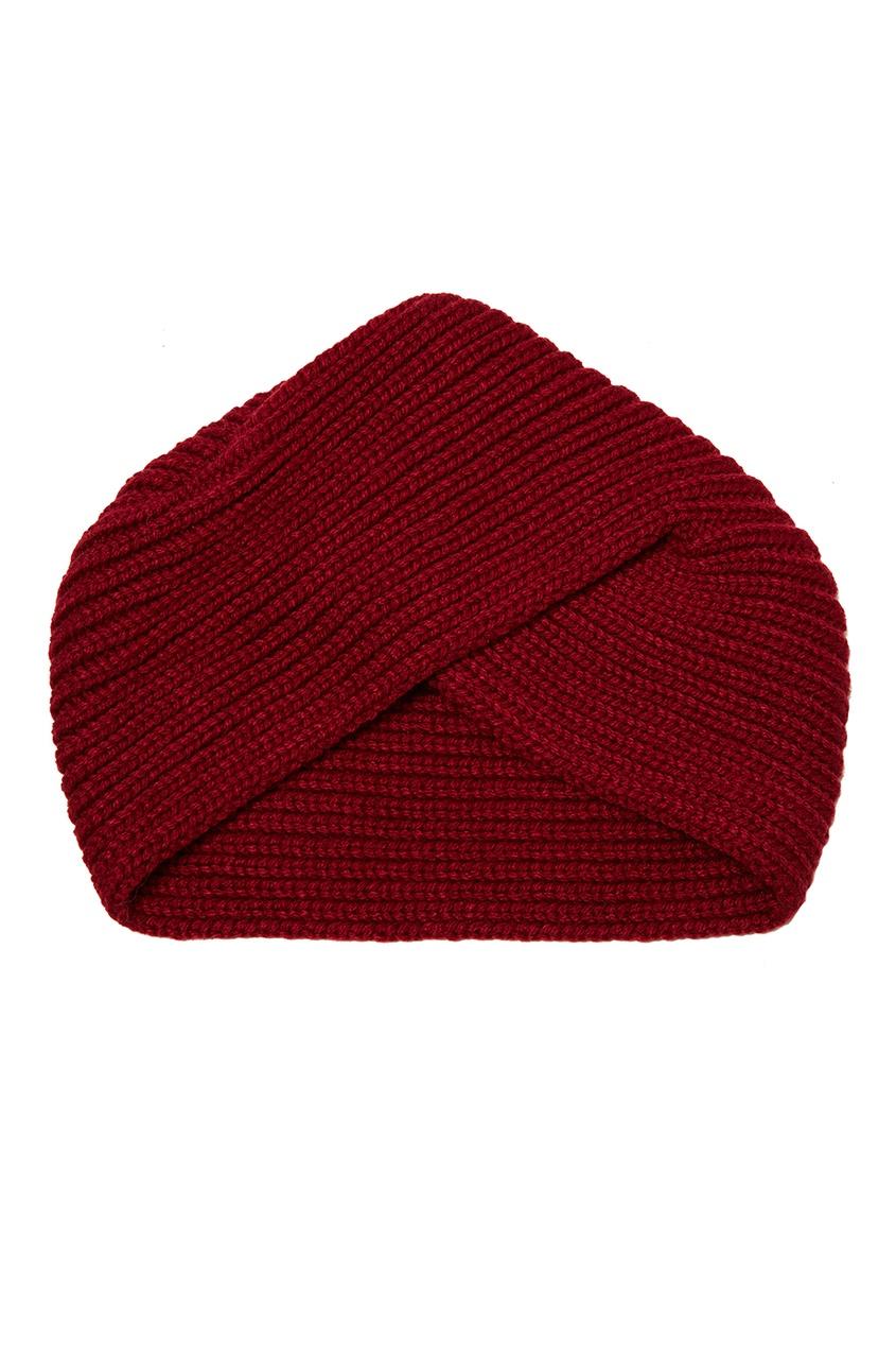 Knittedkiss Бордовая повязка на голову montar заколка монтар бордовая