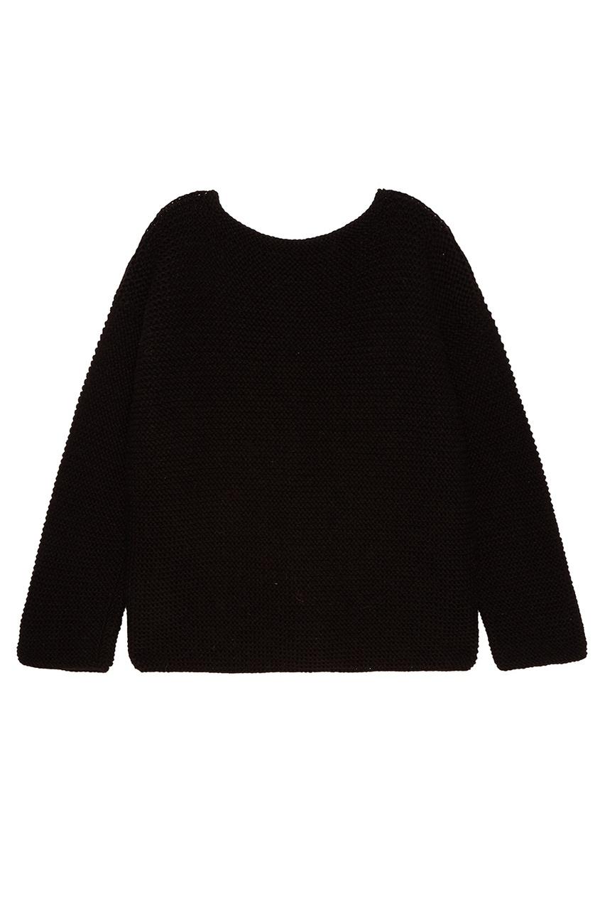 Черный oversize пуловер