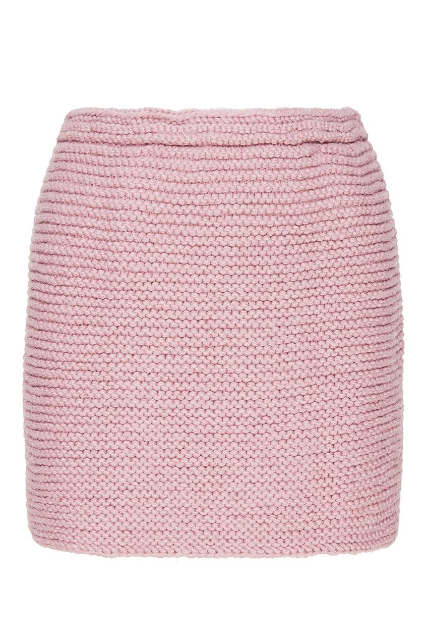 Сиреневая мини-юбка