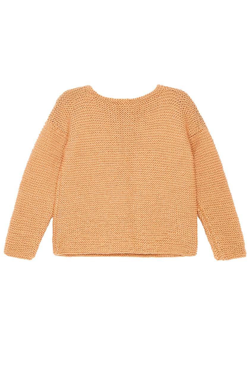 Бежевый oversize пуловер
