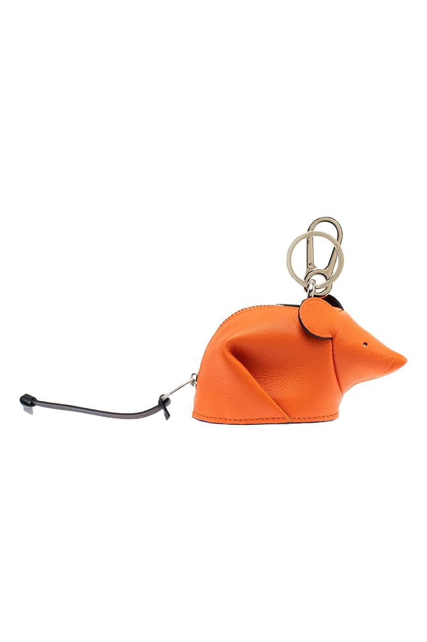 Оранжевый брелок в виде мыши