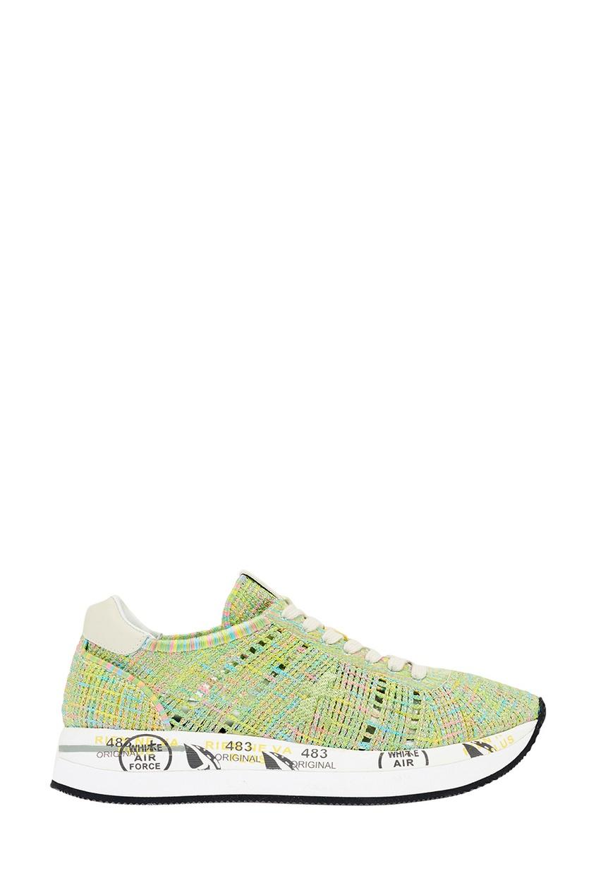 Фото - Premiata Фактурные зеленые кроссовки кроссовки premiata
