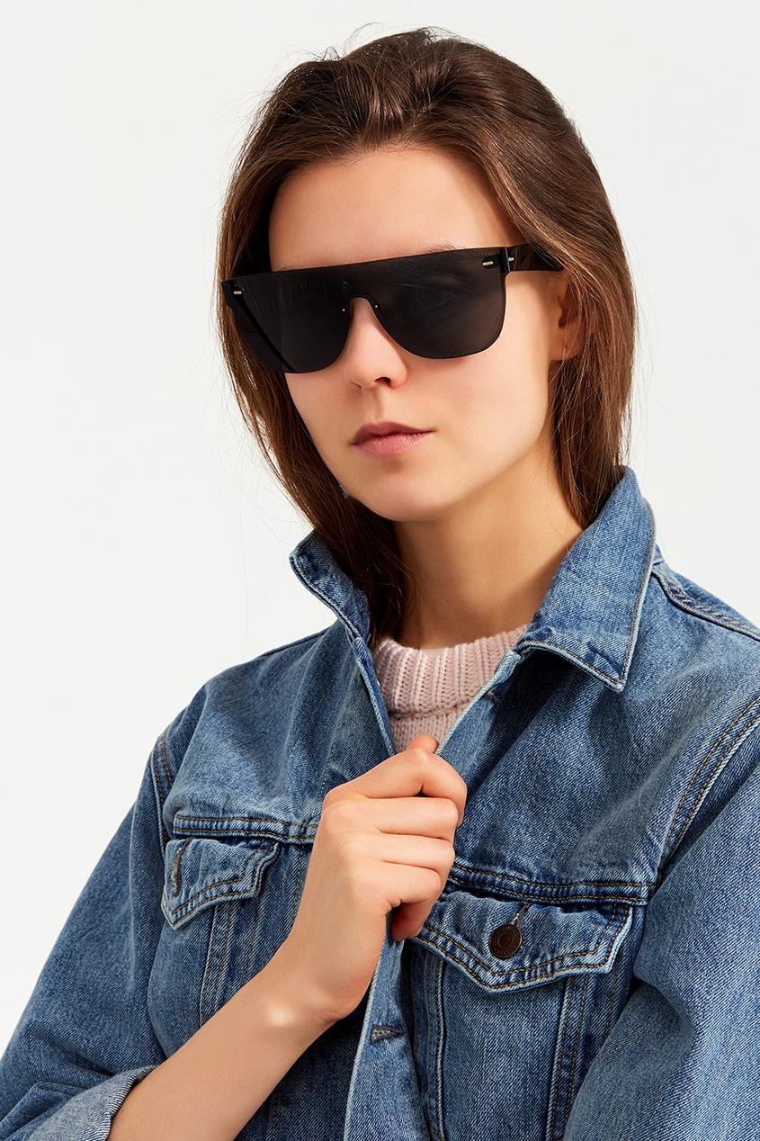 Серые очки с моно-линзой