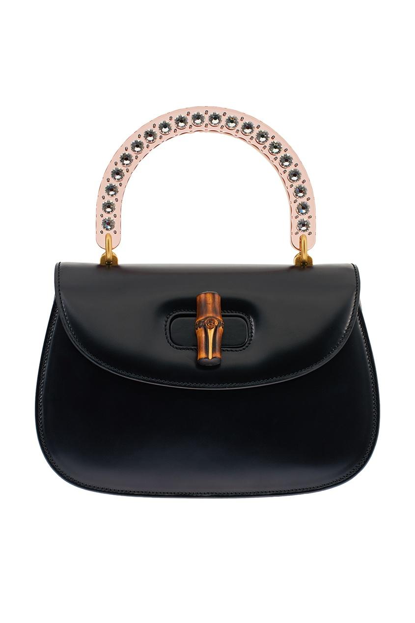 Gucci Кожаная сумка с прозрачной ручкой