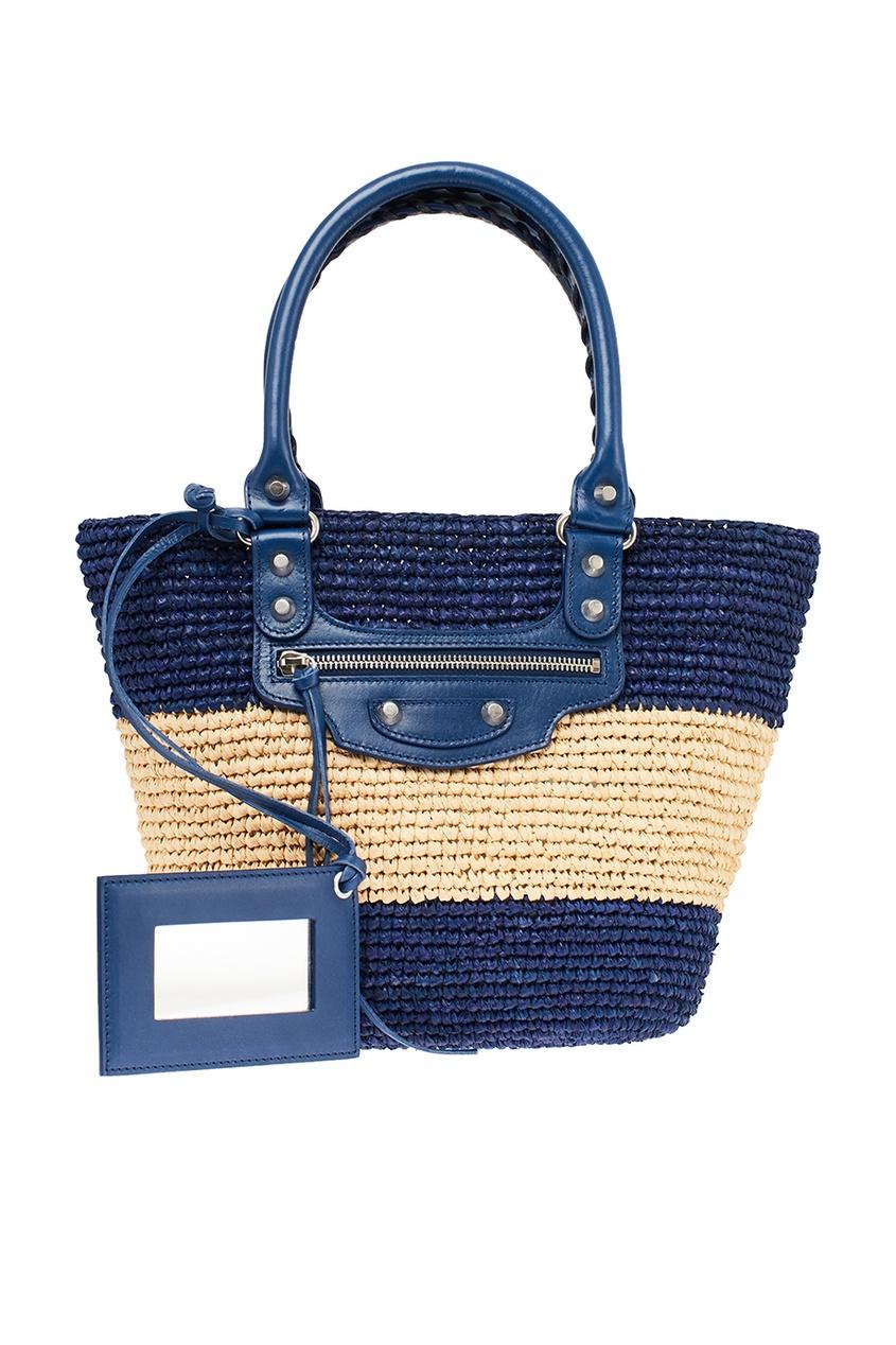 Плетеная сумка в полоску от Balenciaga