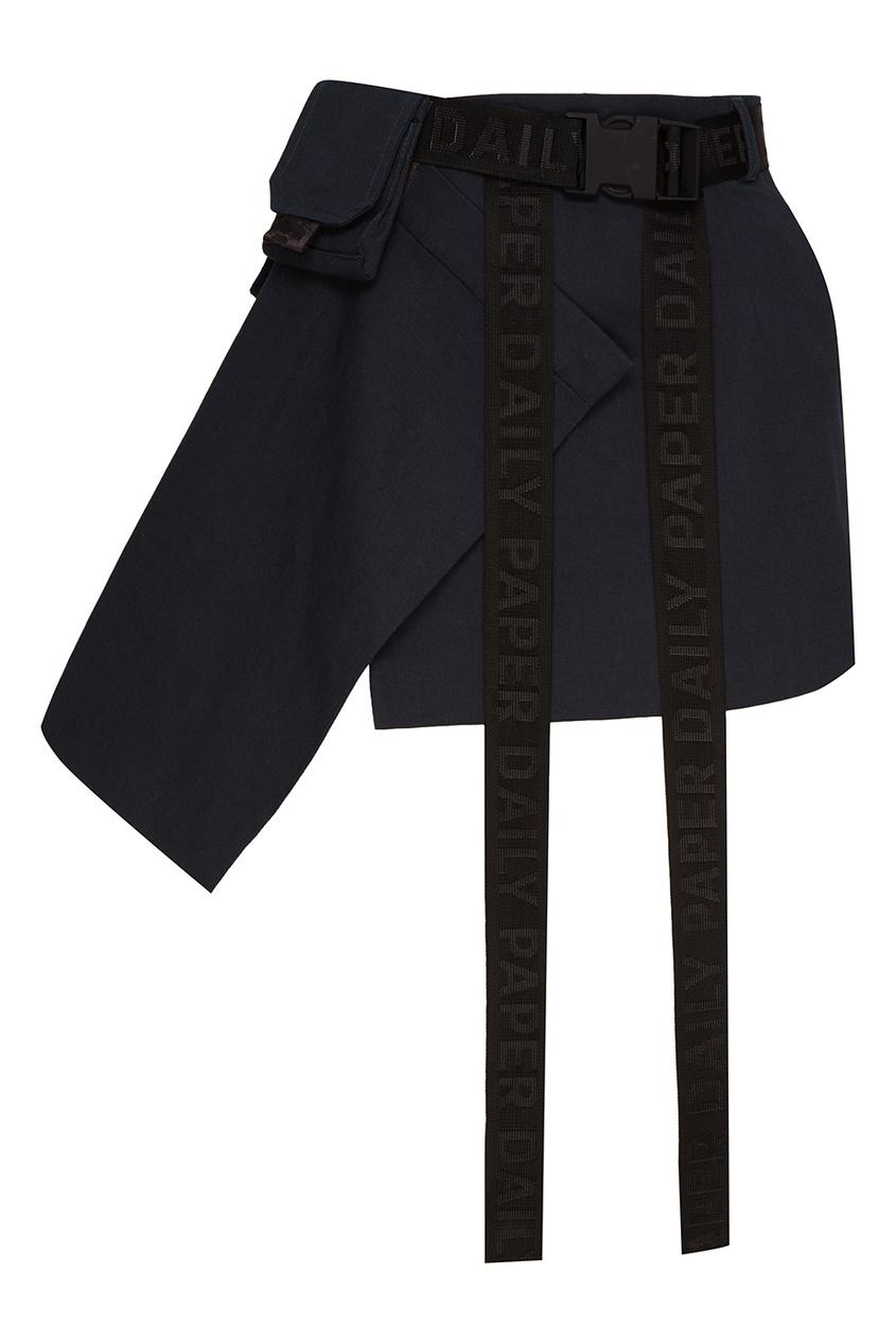 Daily Paper Зеленая мини-юбка с карманами ist пояс из кордуры с пластиковой пряжкой