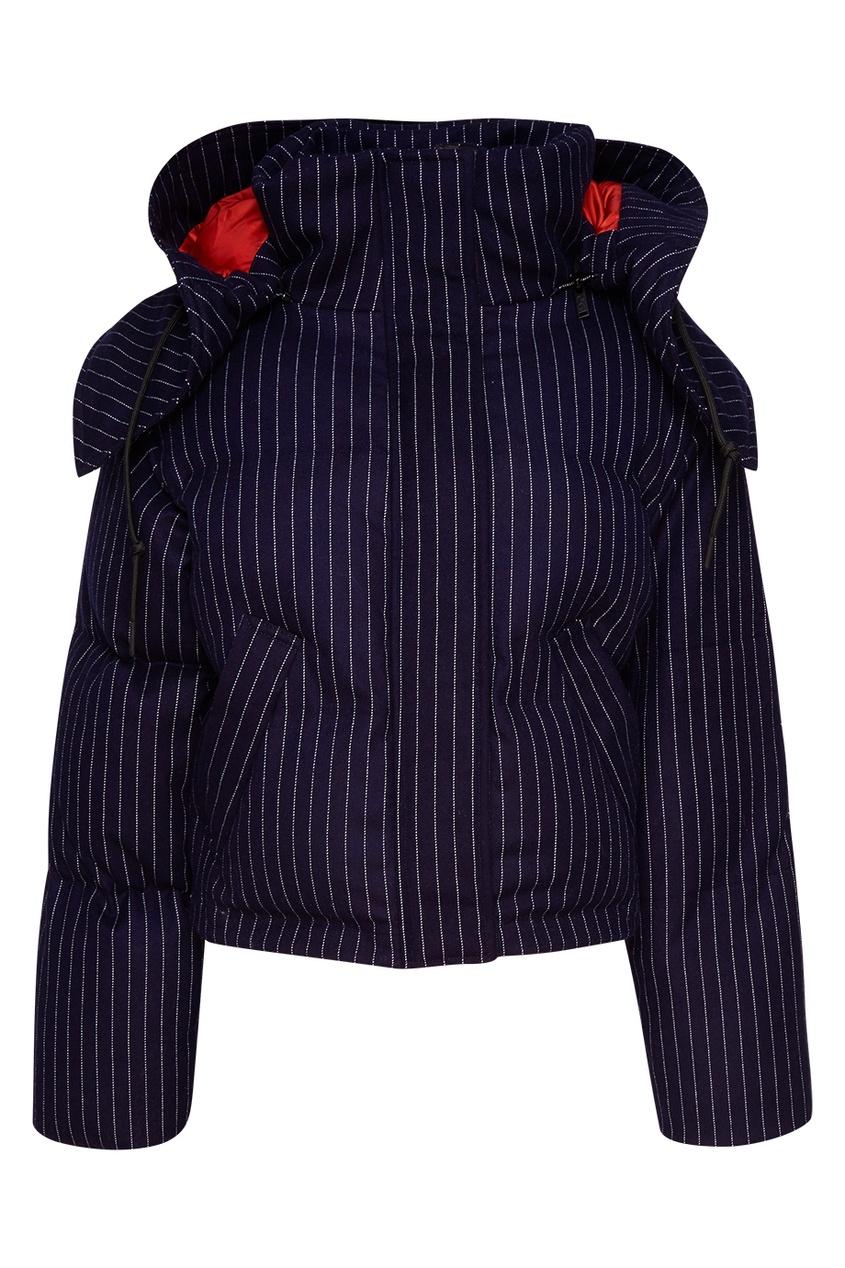 Купить со скидкой Синяя стеганая куртка из хлопка