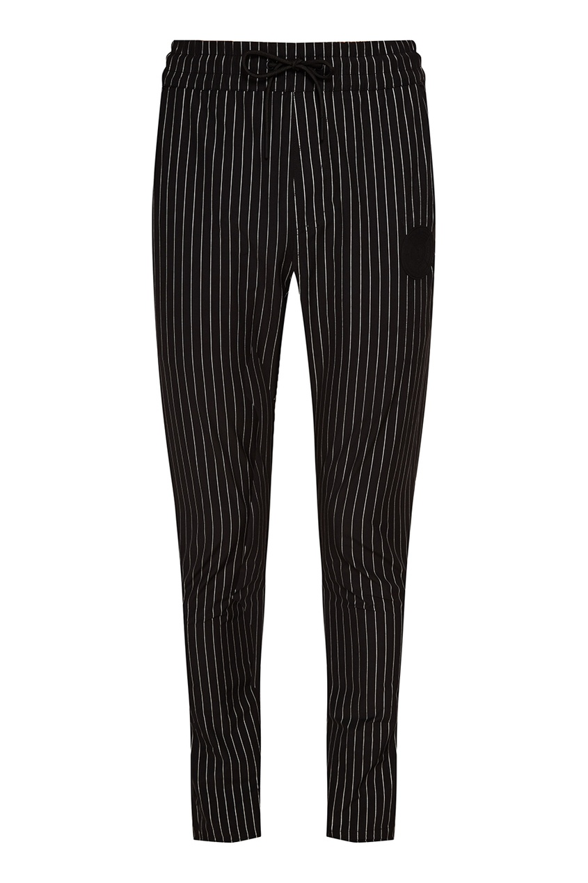 Купить со скидкой Черные брюки в тонкую полоску