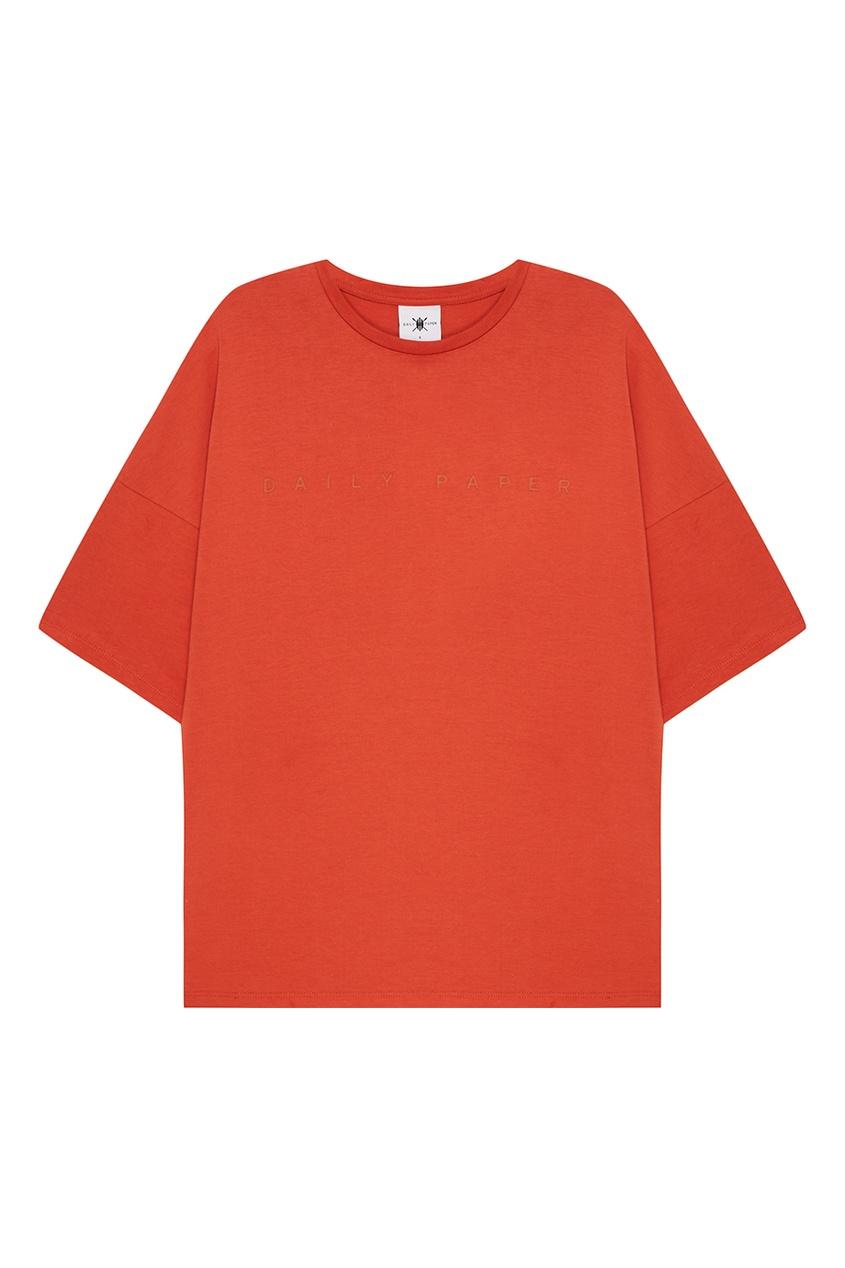 Daily Paper Оранжевая футболка из хлопка