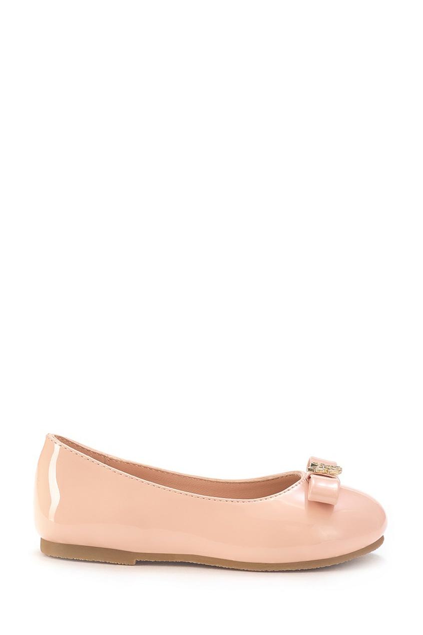 Розовые туфли с бантом и бабочкой