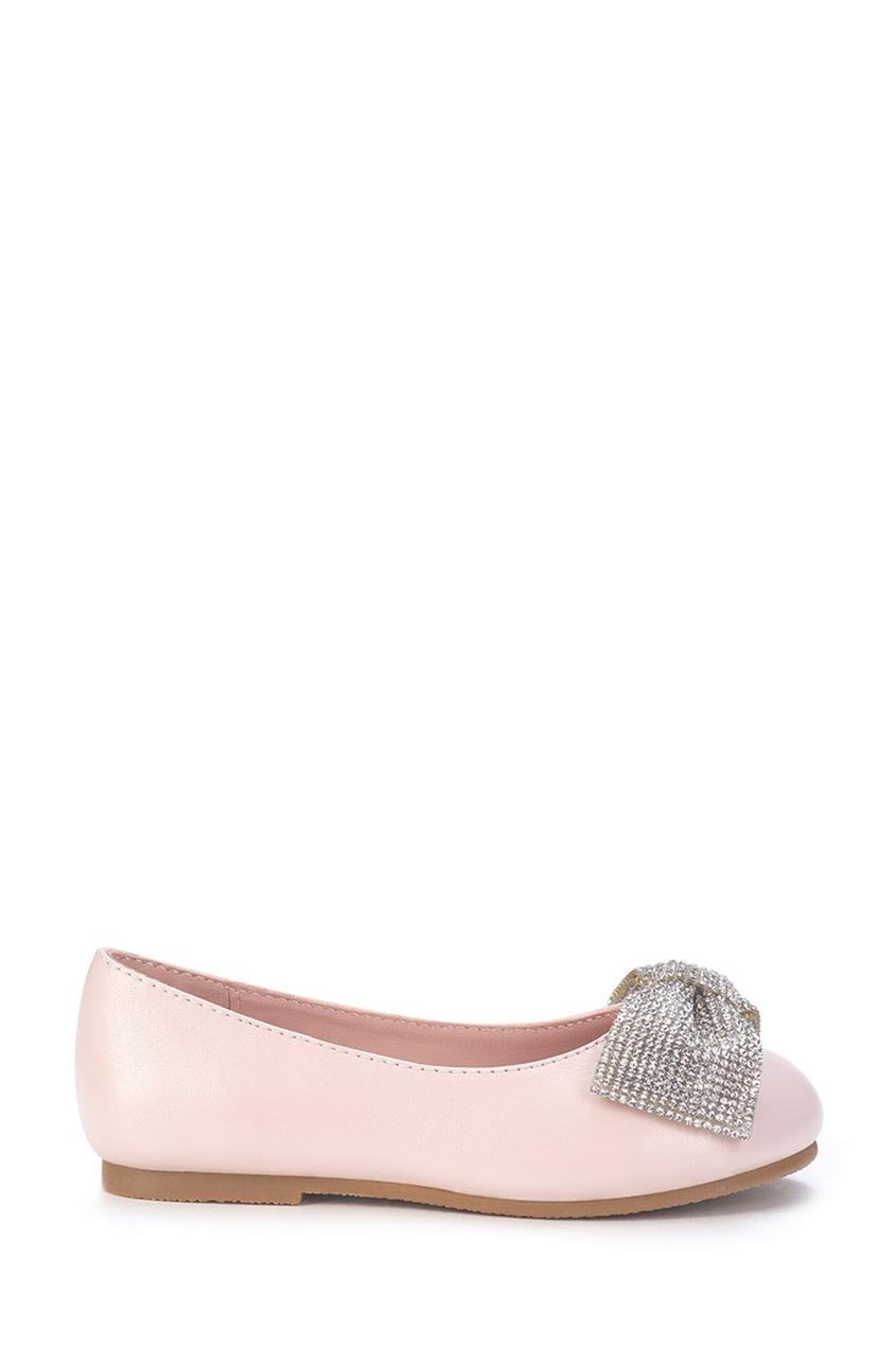 Розовые туфли с блестящим бантом