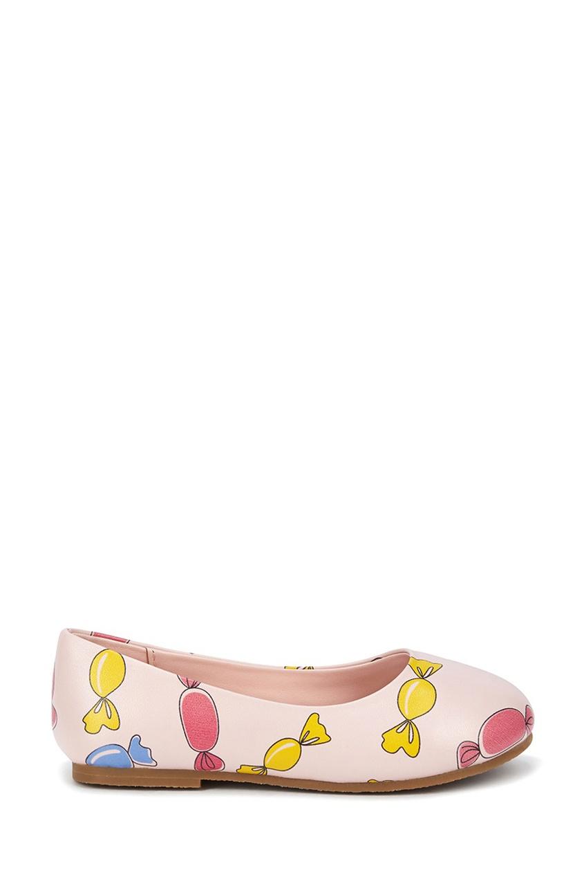 Розовые туфли с цветным принтом от Age of Innocence
