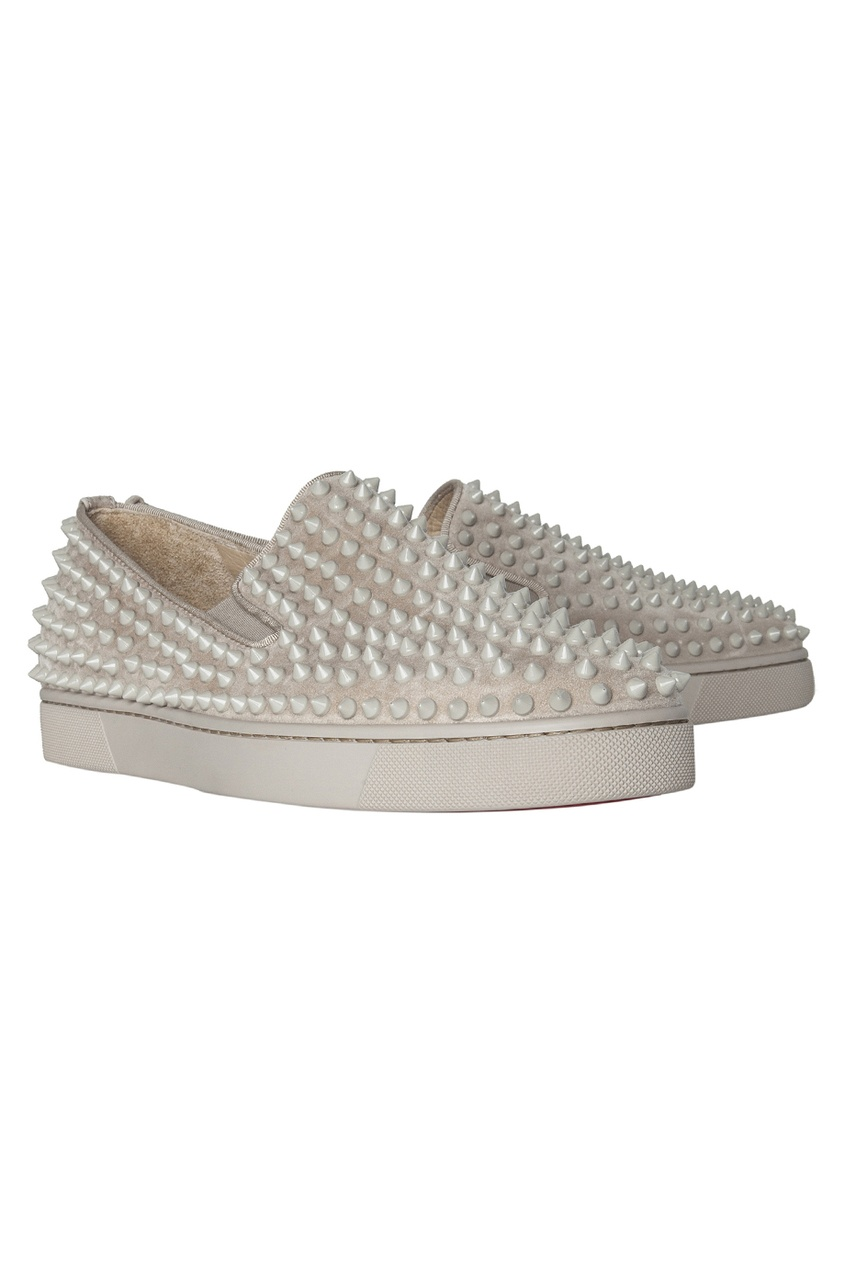 Кожаные ботинки Roller-Boat Flat Veau Velours/GG/Spikes