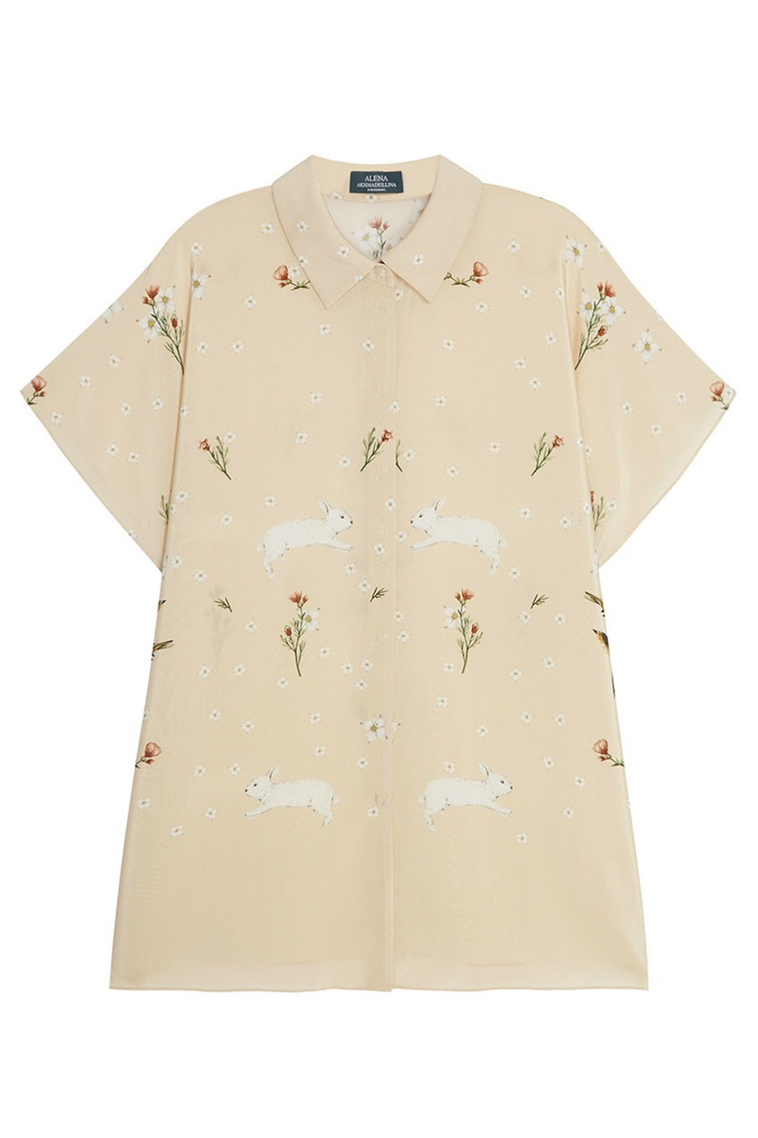 цена Alena Akhmadullina Шелковая блузка с цветочным принтом онлайн в 2017 году