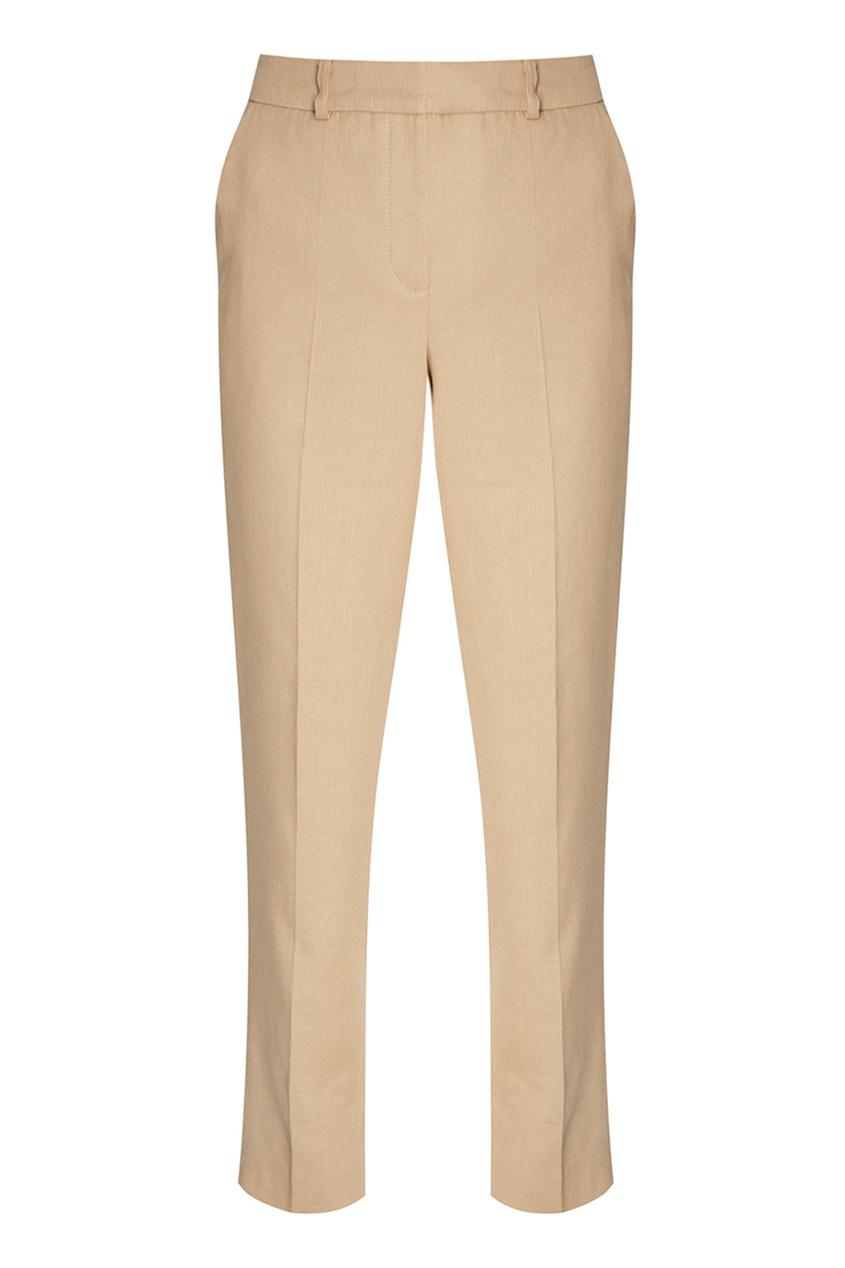 Alena Akhmadullina Бежевые брюки из хлопка и льна брюки прямые из льна