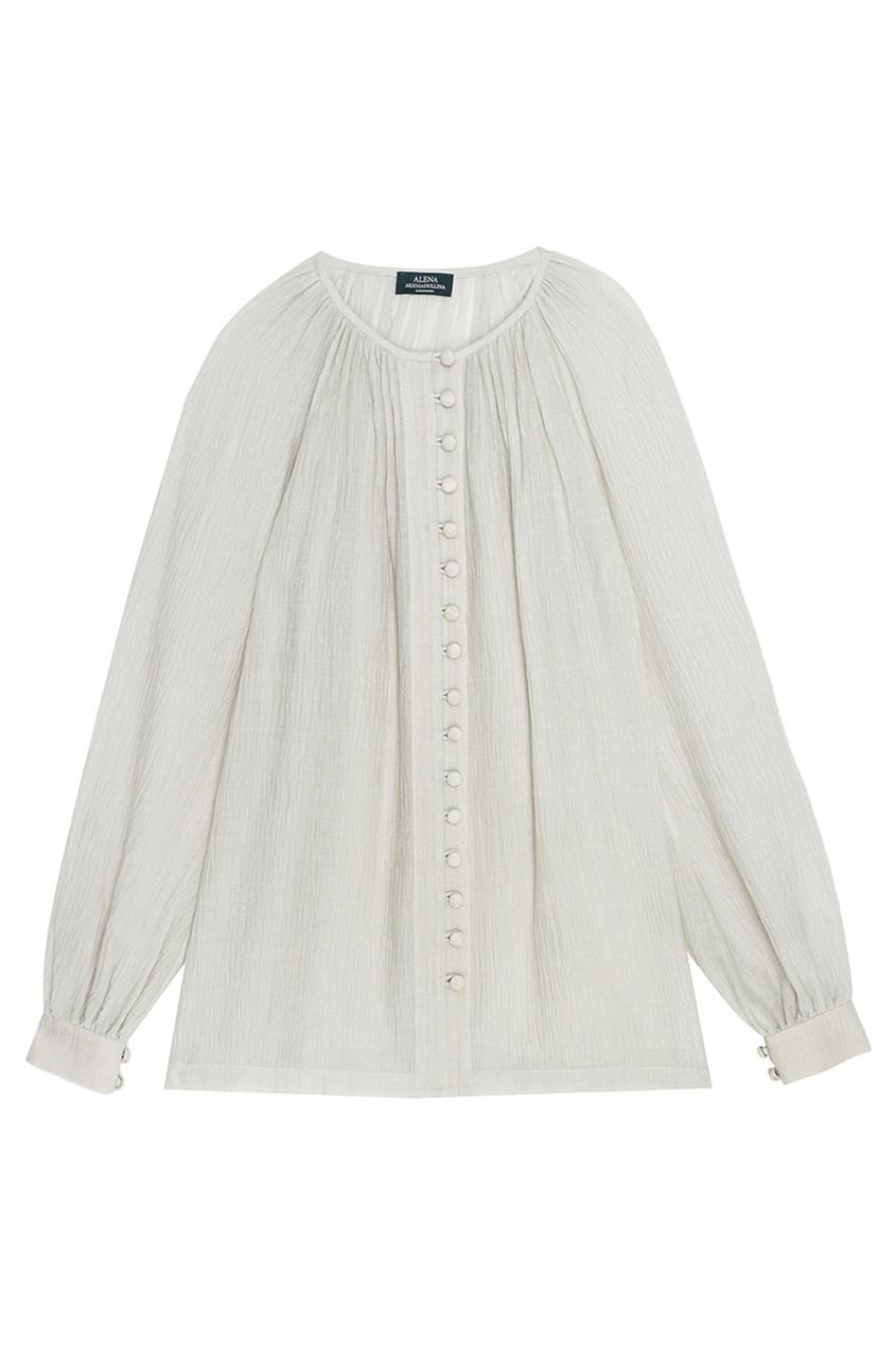 цена Alena Akhmadullina Драпированная блузка с пуговицами онлайн в 2017 году