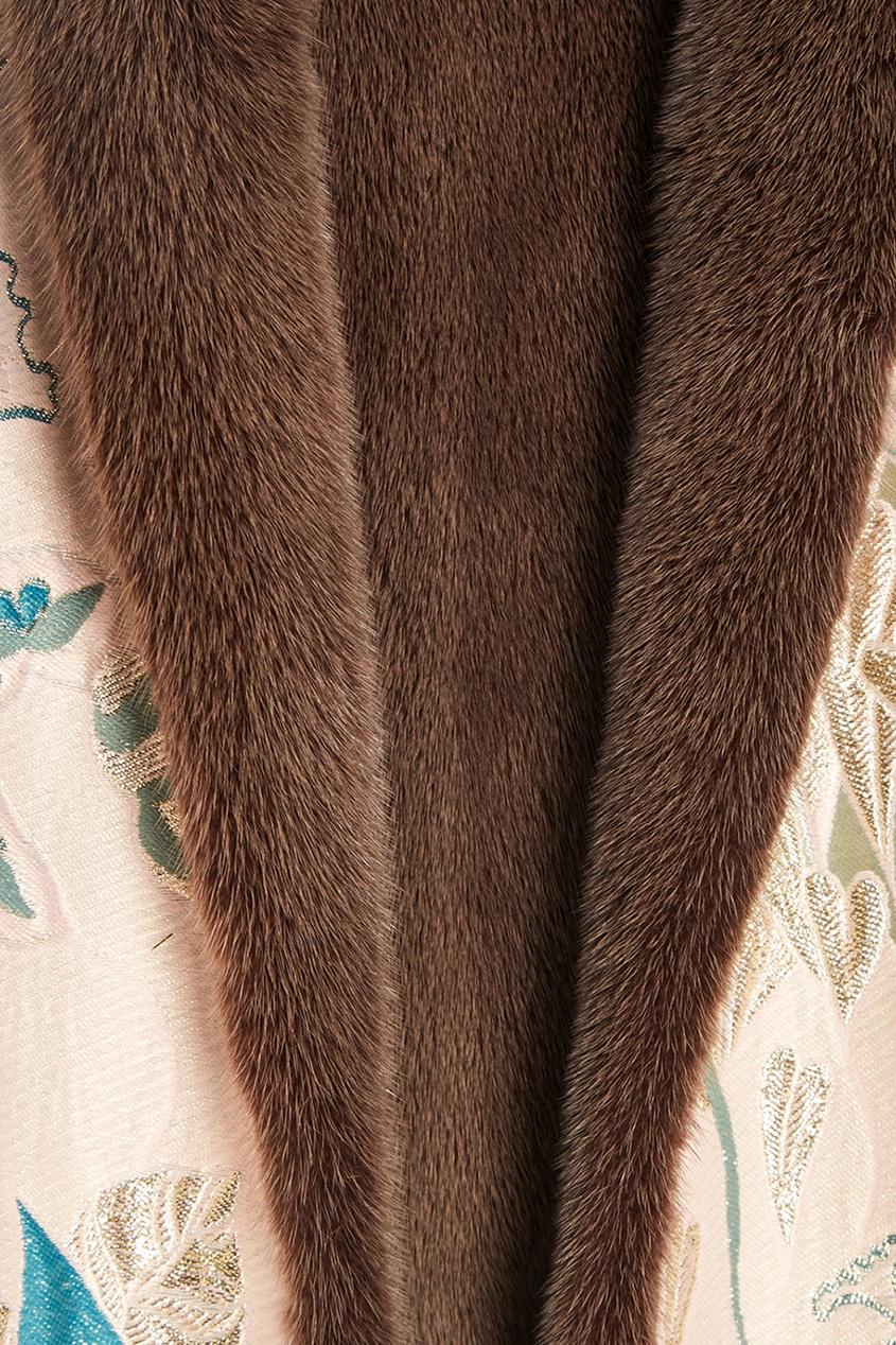 Alena Akhmadullina Жаккардовое пальто на меховой подкладке пальто жаккардовое