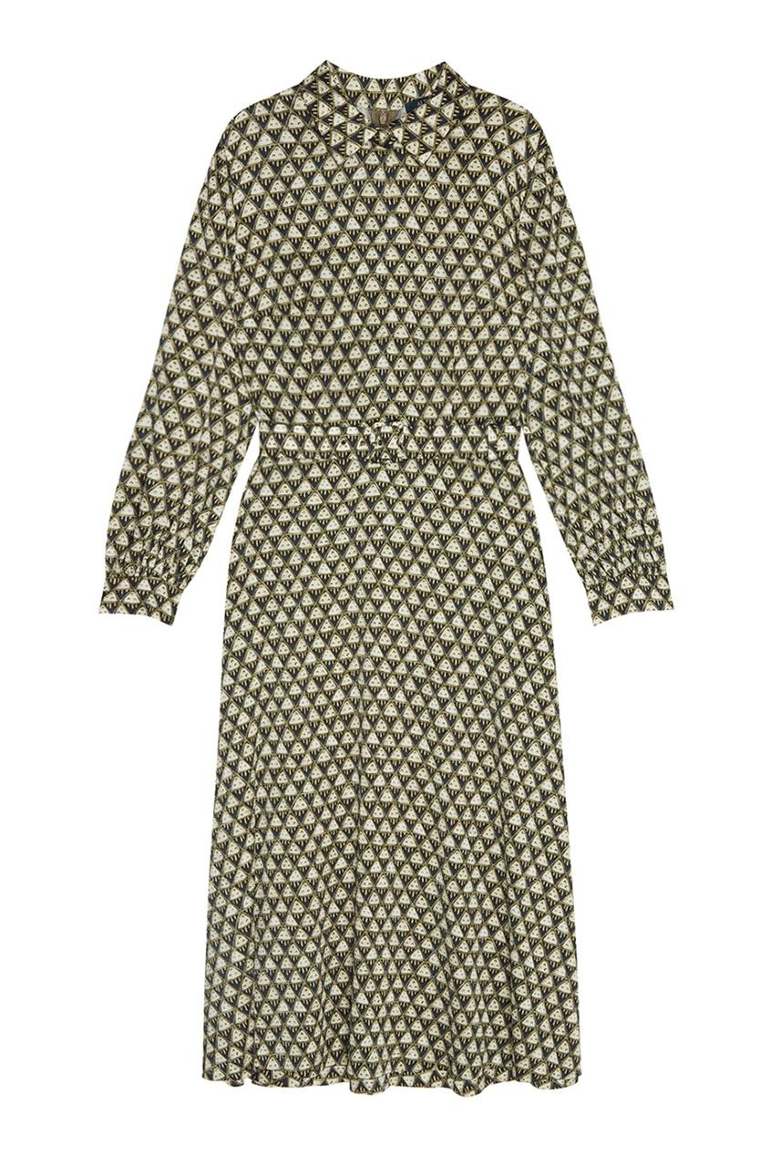 Alena Akhmadullina Шелковое платье с принтом alena akhmadullina платье с макропринтом