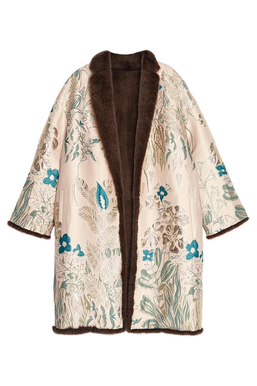 Alena Akhmadullina Жаккардовое пальто на меховой подкладке
