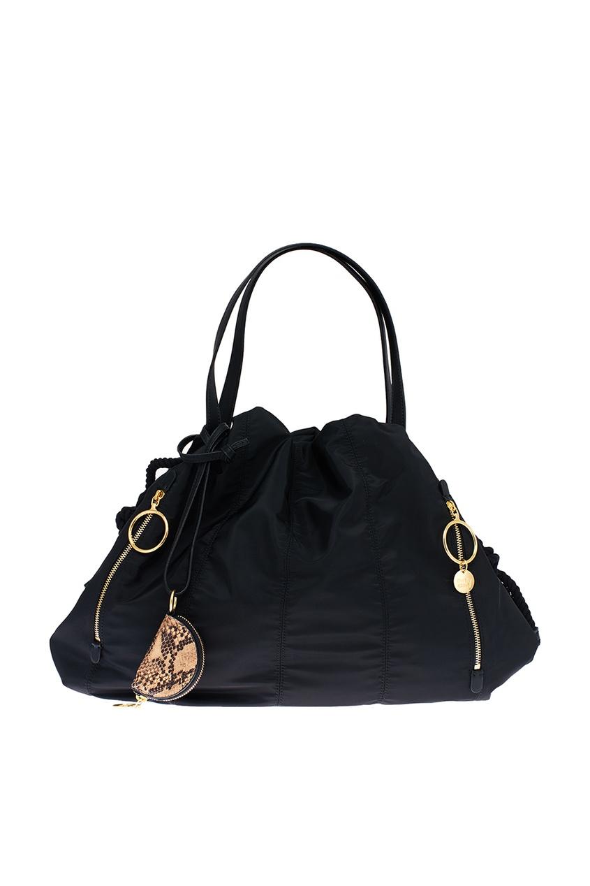Черная текстильная сумка Flo