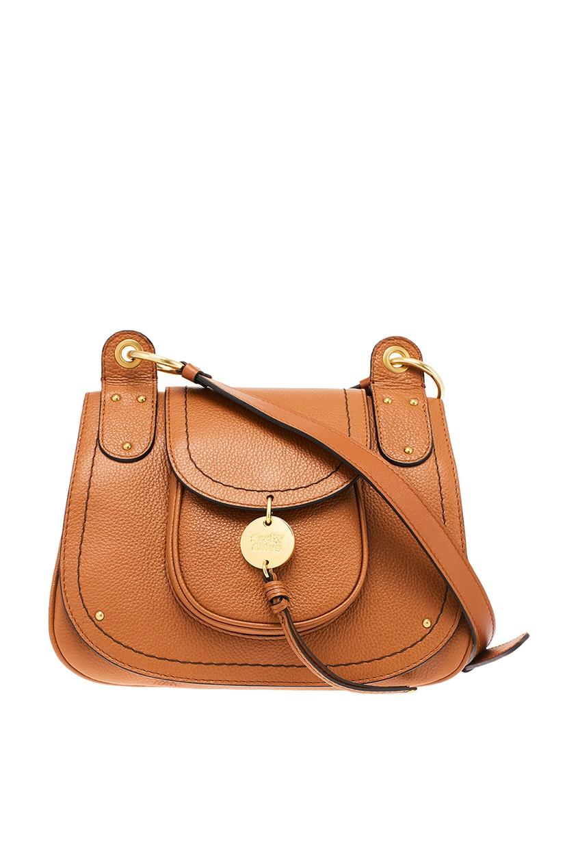 Коричневая сумка из кожи Medium Susie See by Chloe