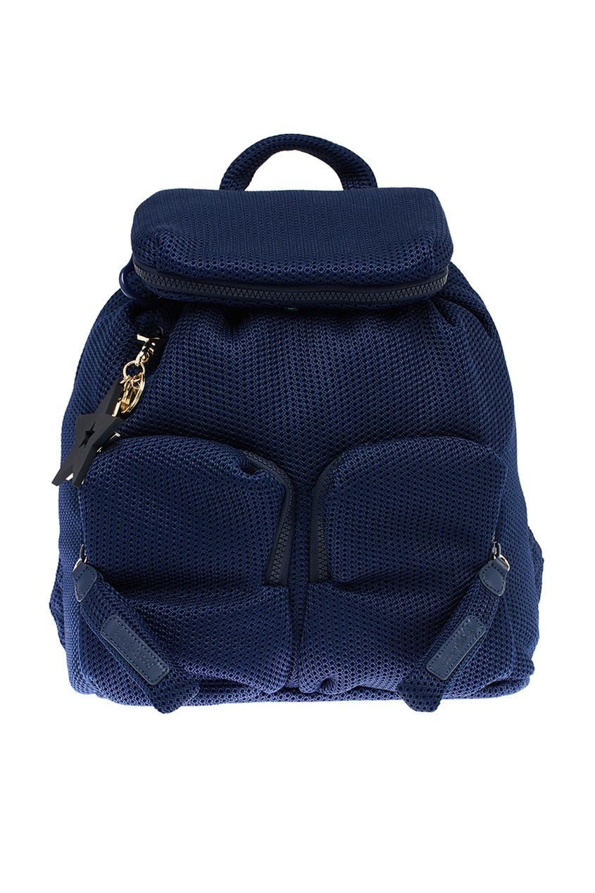 See By Chloé Синий текстильный рюкзак с карманами see by chloé рюкзак